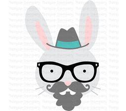 Hipster Rabbit Face SVG