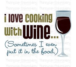 I Love Cooking With Wine SVG