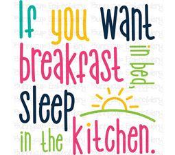 Breakfast In Bed SVG