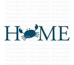 Home With Crab SVG