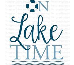 On Lake Time SVG