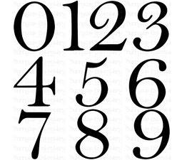 Est Numbers Set SVG