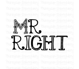 Mr Right SVG