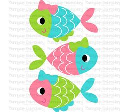Stack of Girl Fish SVG