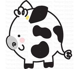 Round Cow SVG