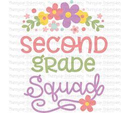 Second Grade Squad SVG
