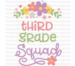 Third Grade Squad SVG