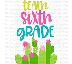 Team Sixth Grade SVG