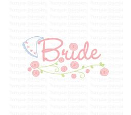 Bride With Veil SVG