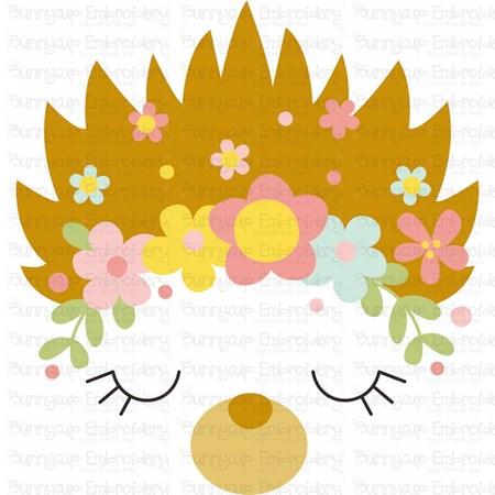 Hedgehog Face SVG