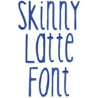 Embroidery Design Set - Skinny Latte Font