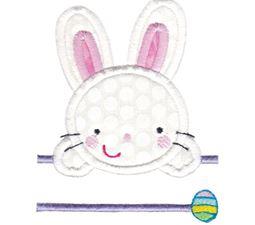 Split Cute Bunny Applique