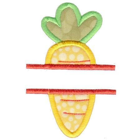 Split Carrot Applique
