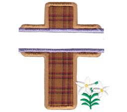 Split Cross Applique