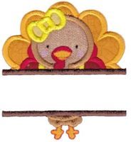 Split Thanksgiving Applique