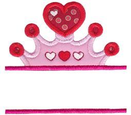 Split Princess Crown Applique