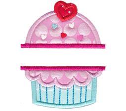 Split Cupcake Applique
