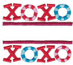 Split XOXO Applique