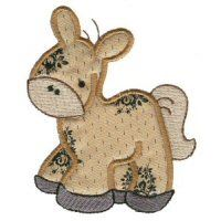 Embroidery Design Set - Sweet Applique Animals
