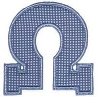Sweet Greek Alphabet Applique