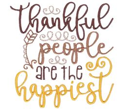 Thankful People Are The Happiest