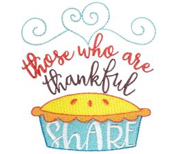 Those Who Are Thankful Share