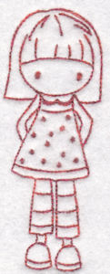 Machine Embroidery Designs Tiny Teens Redwork Bunnycup