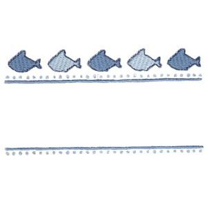 Embroidery Design Set - Whales and Sharks Applique 14