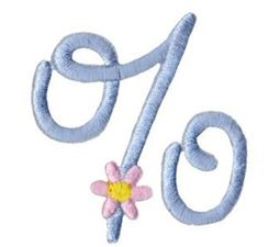 A Daisy Day Alphabet Character 9