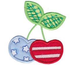 Patriotic Cherries Applique