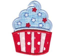 Patriotic Cupcake Applique