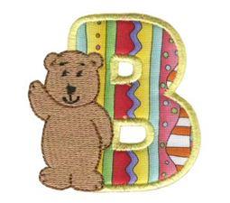 Animal Alphabet Applique B