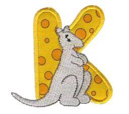 Animal Alphabet Applique k