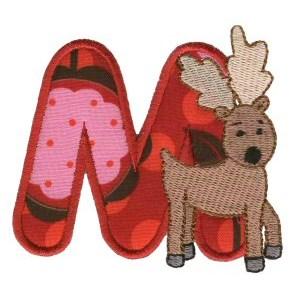 Animal Alphabet Applique m