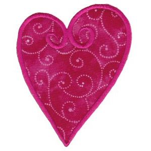 Embroidery Design Set - Applique Hearts 10