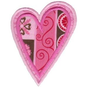 Embroidery Design Set - Applique Hearts 11
