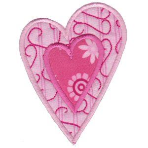 Embroidery Design Set - Applique Hearts 12