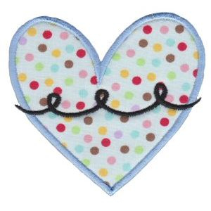 Embroidery Design Set - Applique Hearts 14