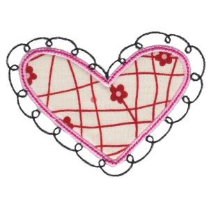 Embroidery Design Set - Applique Hearts 15