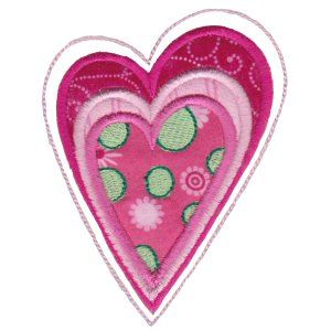 Embroidery Design Set - Applique Hearts 2