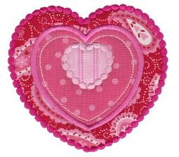 Applique Hearts 25