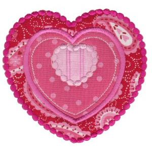 Embroidery Design Set - Applique Hearts 25
