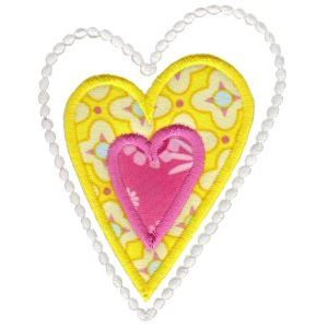 Embroidery Design Set - Applique Hearts 3