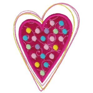 Embroidery Design Set - Applique Hearts 4