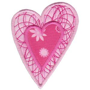 Embroidery Design Set - Applique Hearts 9