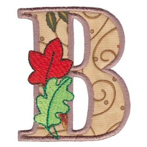 Embroidery Design Set - Autumn Alphabet B