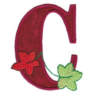 Embroidery Design Set - Autumn Alphabet C