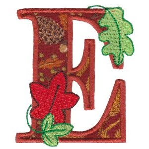 Embroidery Design Set - Autumn Alphabet E