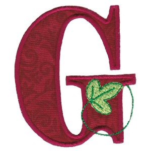 Embroidery Design Set - Autumn Alphabet G
