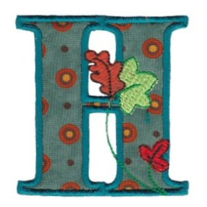 Embroidery Design Set - Autumn Alphabet H